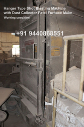 HANGER TYPE SHOT BLASTING MACHINE FOR SALE USED
